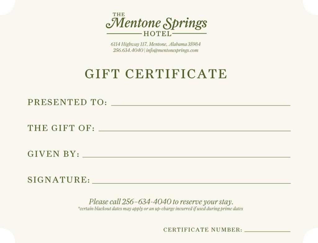 The mentone springs hotel kw design for Hotel voucher design