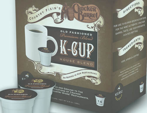 Cracker Barrel K-Cup Box Design