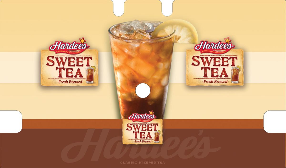 hardees wrap- SWEET tea