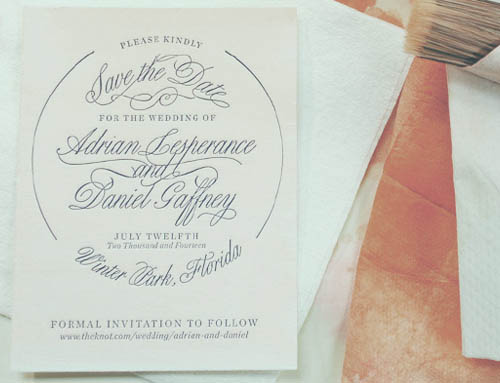 Ombre´ Letterpress Save-the-Dates